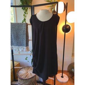 RACHEL Rachel Roy Draped Black Dress